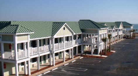Metal Roofing in Emerald Isle NC - color Everglade Moss. INSTALLED BY Maddox Metal Roofing NC
